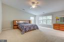 Huge master suite with high ceiling - 5429 CASTLE BAR LN, ALEXANDRIA