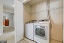 Upper level laundry room with HE washer drye - 5429 CASTLE BAR LN, ALEXANDRIA