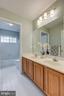Hallway Bathroom with dual sink - 5429 CASTLE BAR LN, ALEXANDRIA