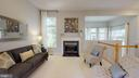 Gas Fireplace in Living Room - 47576 SAULTY DR, POTOMAC FALLS