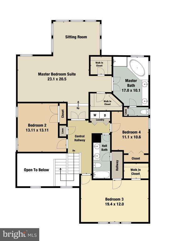 Upper Level Floorplan - 47576 SAULTY DR, POTOMAC FALLS