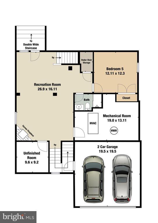Lower Level Floorplan - 47576 SAULTY DR, POTOMAC FALLS