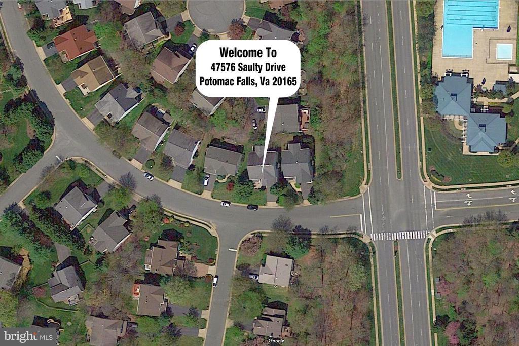Aerial View - 47576 SAULTY DR, POTOMAC FALLS