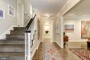 Wide stairs - 5707 MOHICAN RD, BETHESDA
