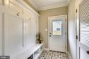 Custom Build Ins in Mud Room - 3401 CAMPBELL DR, ALEXANDRIA