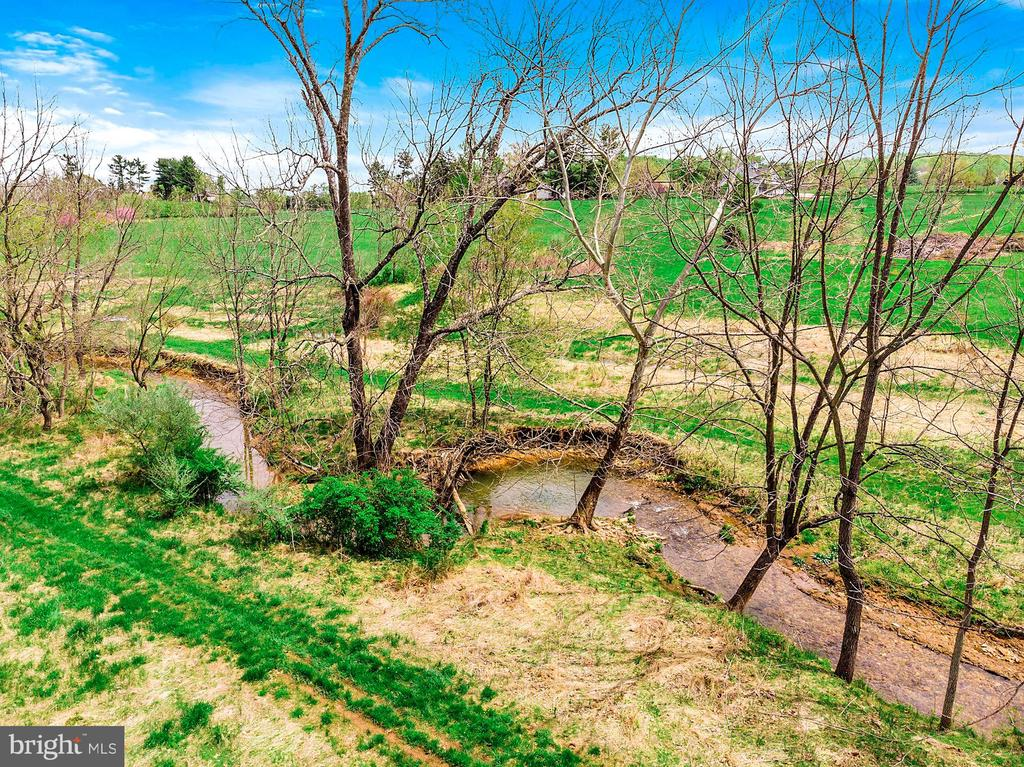 Creek runs along the western edge of the property - 40041 HEDGELAND LN, WATERFORD