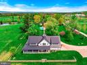 From above, the Barn building, pool and Main House - 40041 HEDGELAND LN, WATERFORD