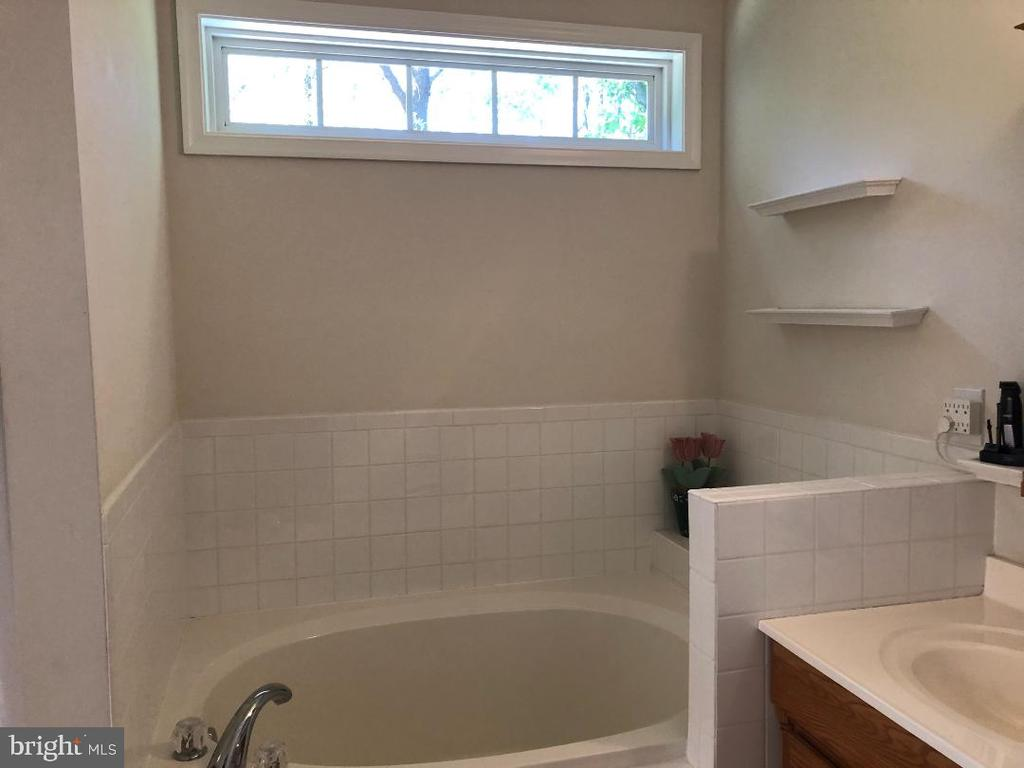 Master soaking tub with transom window - 1400 LAKEVIEW PKWY, LOCUST GROVE