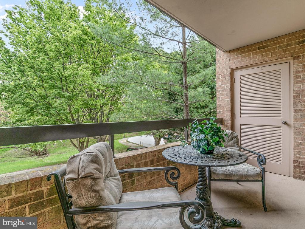 Balcony from kithen - 11420 STRAND DR #R-113, NORTH BETHESDA