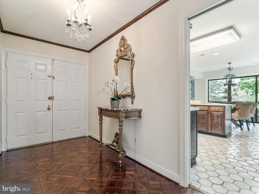 Your own foyer with double door entry - 11420 STRAND DR #R-113, NORTH BETHESDA