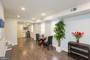 Open concept layout with gleaming floors - 4424 HUNT PL NE, WASHINGTON