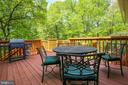 Deck conveniently located off kitchen - 3200 GLENWOOD PL, FALLS CHURCH