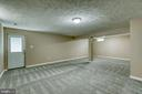 Basement Rec room with walk-up access to backyard - 6 CANDLERIDGE CT, STAFFORD