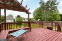 Great deck for entertaining - 6 CANDLERIDGE CT, STAFFORD
