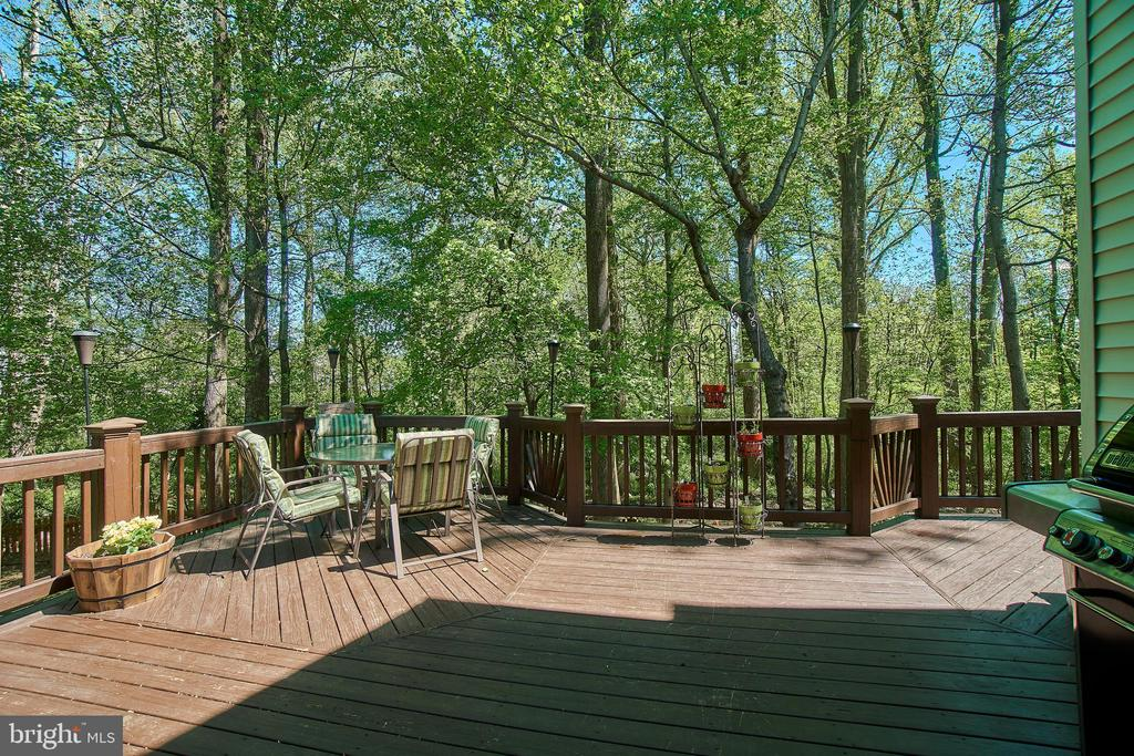 Huge private deck with wooded views - 9216 ZACHARY CT, MANASSAS PARK