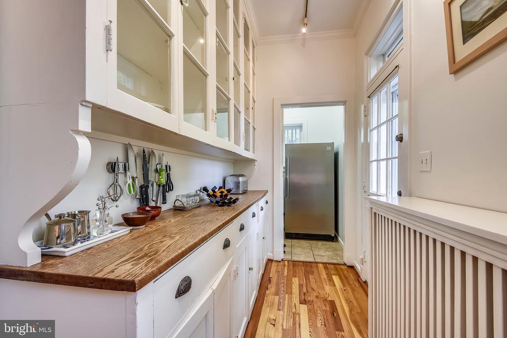 Original glass-front pantry - 104 TUNBRIDGE RD, BALTIMORE