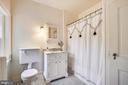 Master bath, newly re-porcelited - 104 TUNBRIDGE RD, BALTIMORE