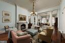 The parlors are immersed w/architectural integrity - 209 S SAINT ASAPH ST, ALEXANDRIA
