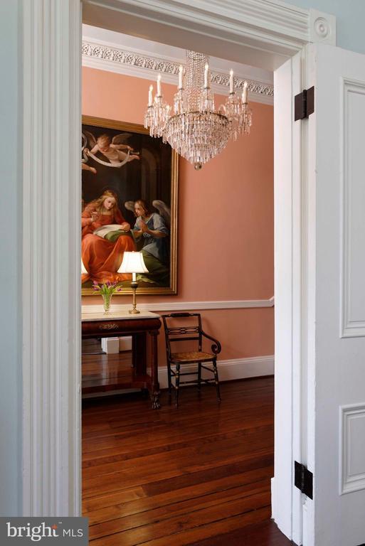 A period antique chandelier from Spurgeon-Lewis - 209 S SAINT ASAPH ST, ALEXANDRIA