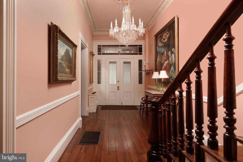 The gorgeous entrance hall with beautiful transoms - 209 S SAINT ASAPH ST, ALEXANDRIA