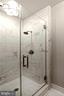 Luxurious renovated marble ensuite bathroom - 209 S SAINT ASAPH ST, ALEXANDRIA