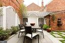 A special arched seating area off the patio - 209 S SAINT ASAPH ST, ALEXANDRIA
