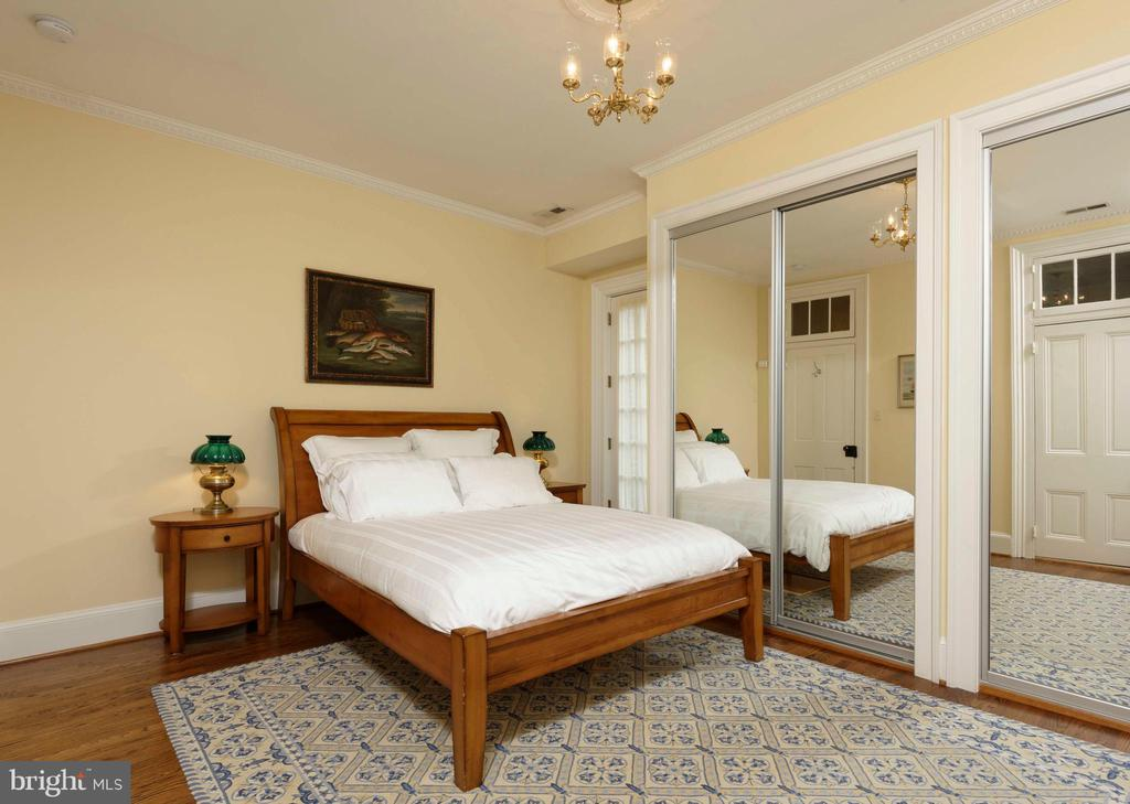 This bedroom features a private balcony - 209 S SAINT ASAPH ST, ALEXANDRIA