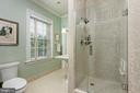 A renovated guest bath with walk-in shower - 209 S SAINT ASAPH ST, ALEXANDRIA