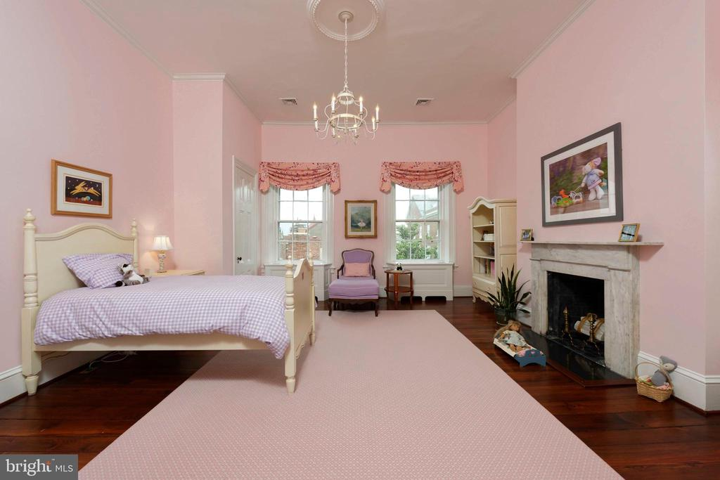 Three windows and a fireplace grace this room - 209 S SAINT ASAPH ST, ALEXANDRIA