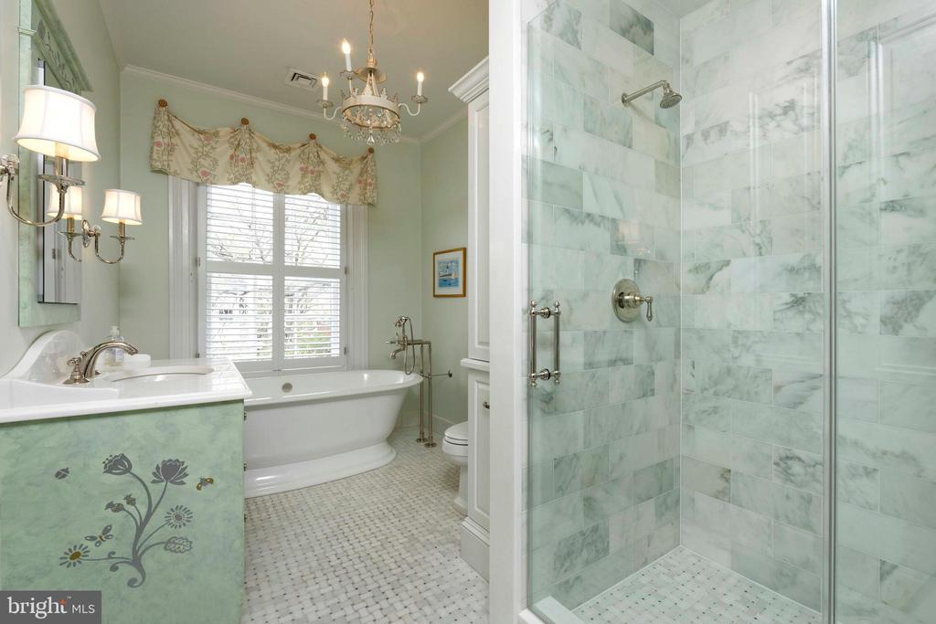 A renovated bathroom with separate tub & shower - 209 S SAINT ASAPH ST, ALEXANDRIA
