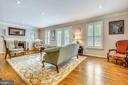 Family Room with fireplace - 1410 WOODSIDE PKWY, SILVER SPRING