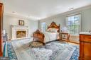 Master Bedroom with Fireplace - 1410 WOODSIDE PKWY, SILVER SPRING