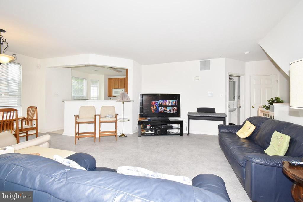 LIVING ROOM W/DINING RM VIEW - 10794 SYMPHONY WAY #201, COLUMBIA