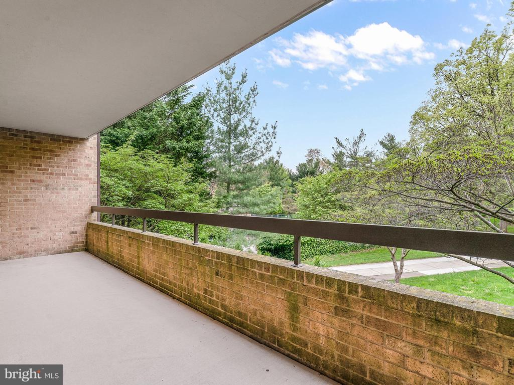 Balcony off of Living Room - 11420 STRAND DR #R-113, NORTH BETHESDA