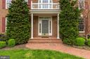 Front Entry with Brick Stoop - 11696 CARSON OVERLOOK CT, HERNDON