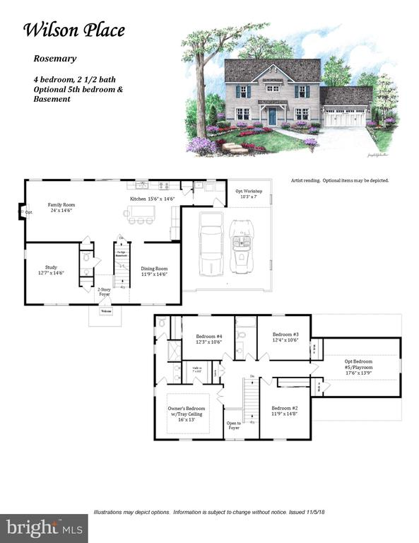 Floor plan may depict optional features. - 1630 WILSON AVE #9, LANCASTER