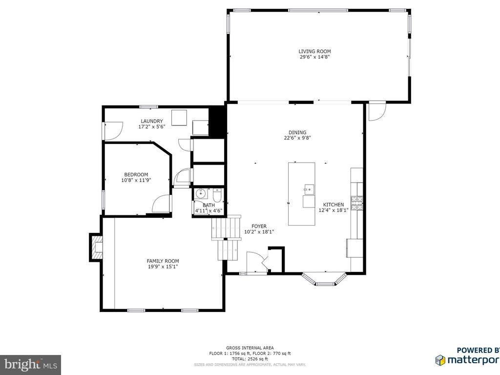 Lower Level and Main Level Floor Plans - 6303 ZEKAN LN, SPRINGFIELD