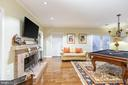 Family Room  with French doors to private patio - 2369 S QUEEN ST, ARLINGTON