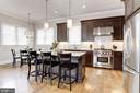 Gourmet kitchen with Wolf range - 405 N HIGHLAND ST, ARLINGTON