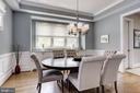 Stunning formal dining room with wainscotting - 405 N HIGHLAND ST, ARLINGTON