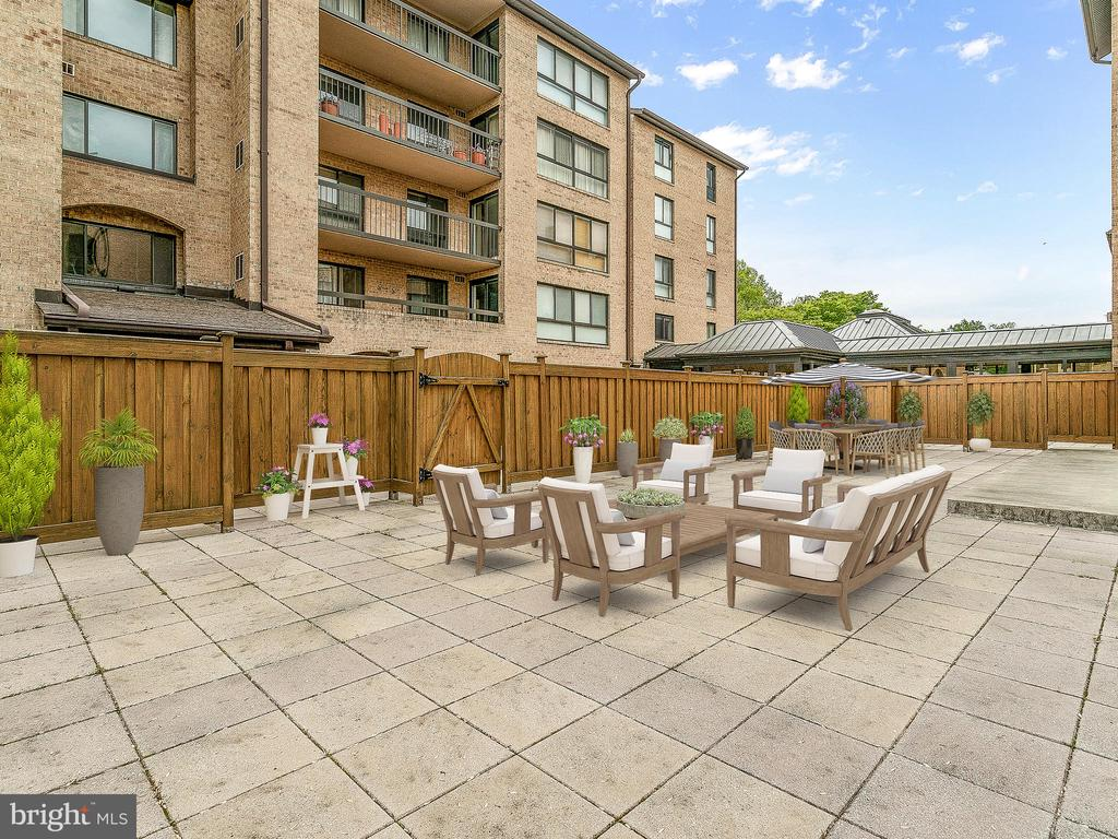 A patio just for you - 11420 STRAND DR #R-113, NORTH BETHESDA