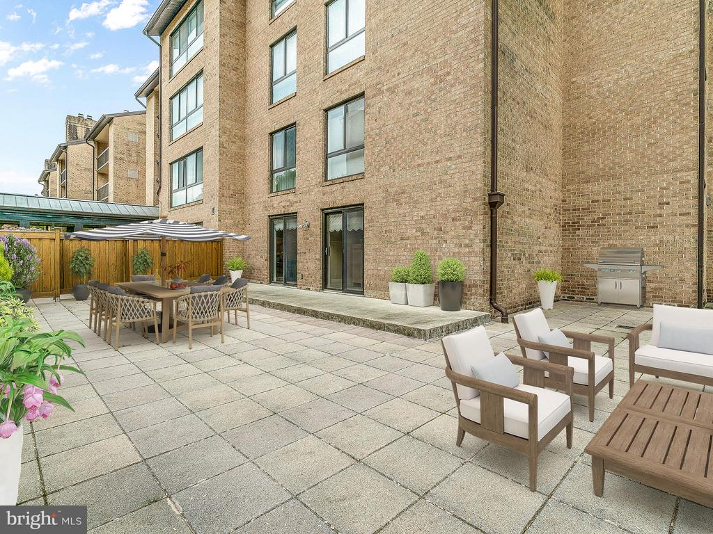 Entertain all summer on this amazing private patio - 11420 STRAND DR #R-113, NORTH BETHESDA