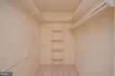Master bedroom walk-in closet - 1803 ABBEY GLEN CT, VIENNA