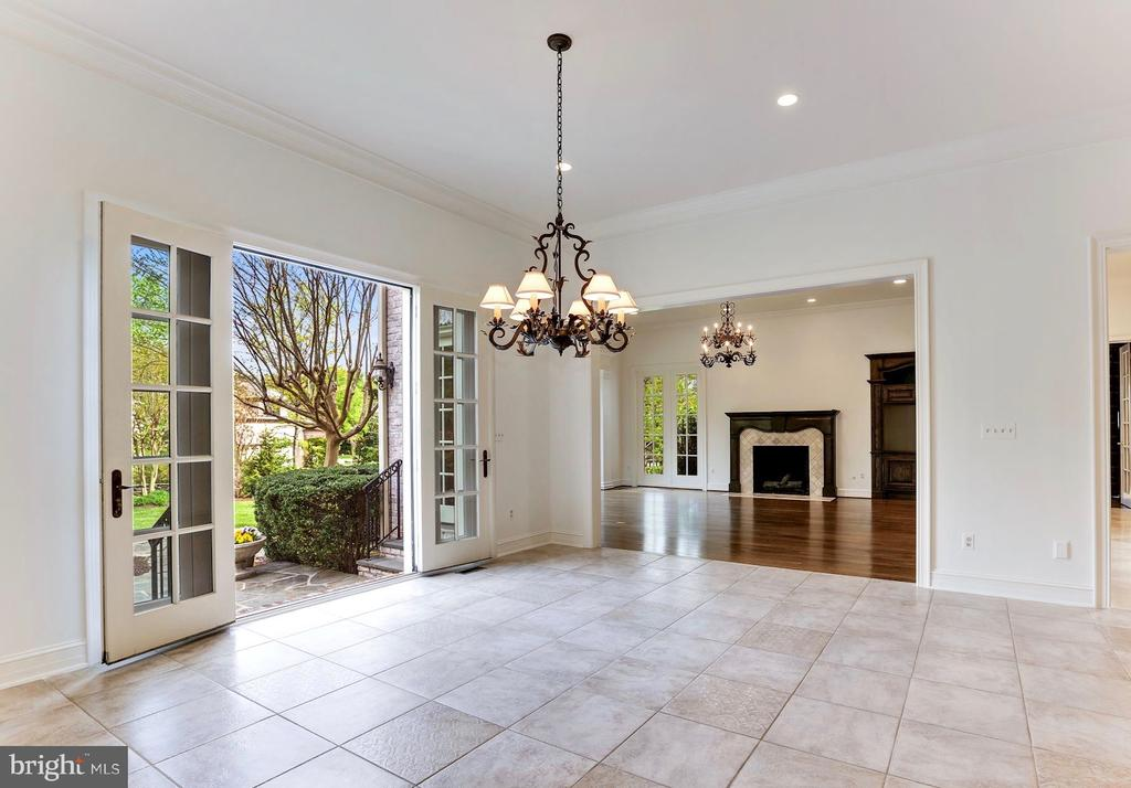 Breakfast Salon with French Doors to Patio - 1179 ORLO DR, MCLEAN