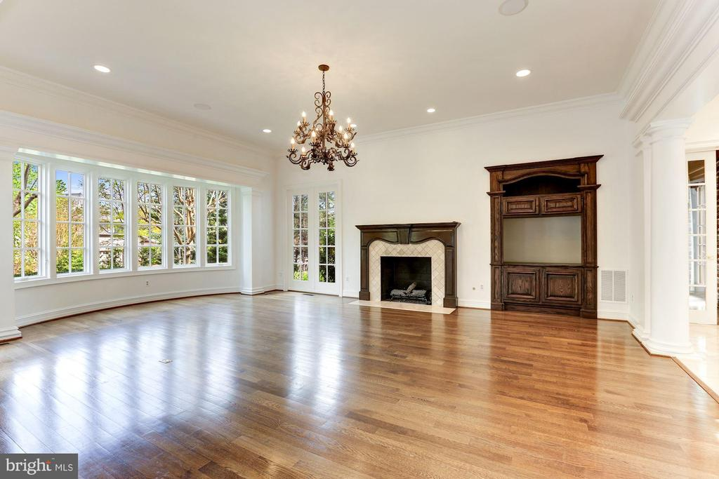 Family Room with Fireplace & Media Center - 1179 ORLO DR, MCLEAN