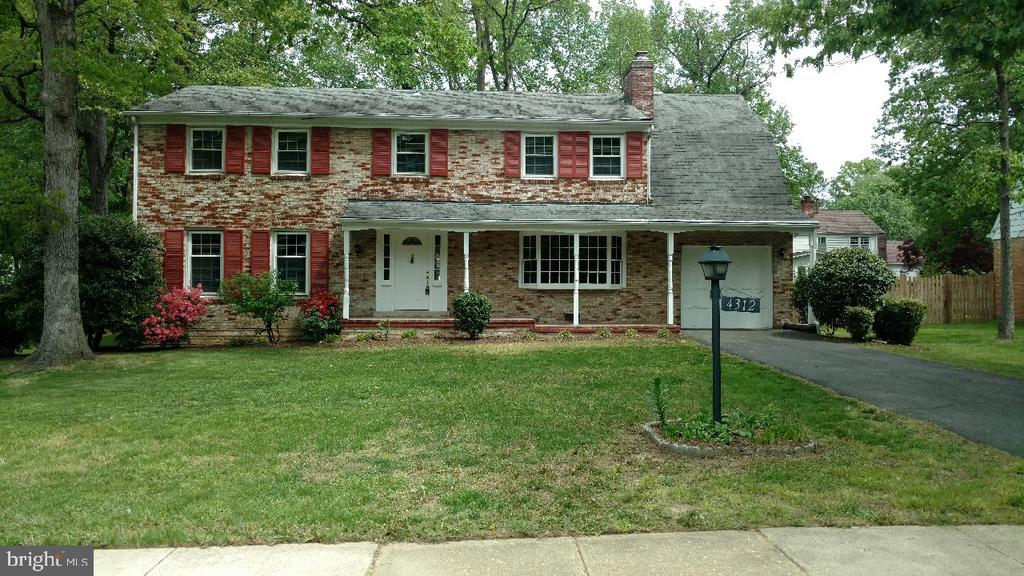 FRONT VIEW OF HOME FROM THE STREET - 4312 SOUTHWOOD DR, ALEXANDRIA