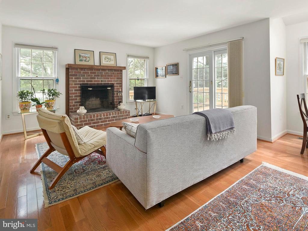 Family room, wood-burning fireplace - 1232 BISHOPSGATE WAY, RESTON