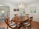 Formal dining room, chair molding - 1232 BISHOPSGATE WAY, RESTON