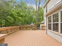 Rear deck overlooking mature landscaping - 1232 BISHOPSGATE WAY, RESTON