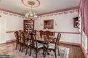 Dining room has plenty of space for entertaining - 6412 NOBLE ROCK CT, CLIFTON